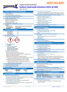 0.2M Sodium Hydroxide SDS